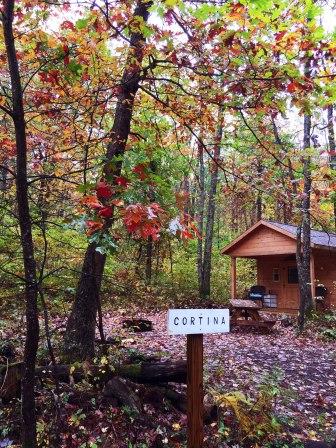 Cortina cabin at Wild Yough.